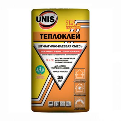 Штукатурно-клеевая смесь Юнис Тепло-Клей 25кг