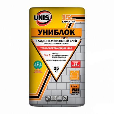 Монтажно-кладочная смесь Юнис Униблок 25кг