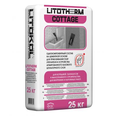 Штукатурно-клеевой состав Litokol Litotherm Cottage